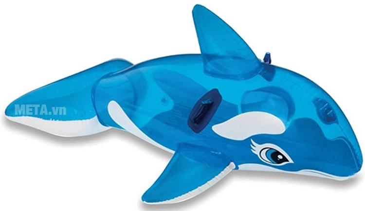 Phao bơi cá voi xanh Intex 58523 có thiết kế tay cầm an toàn.