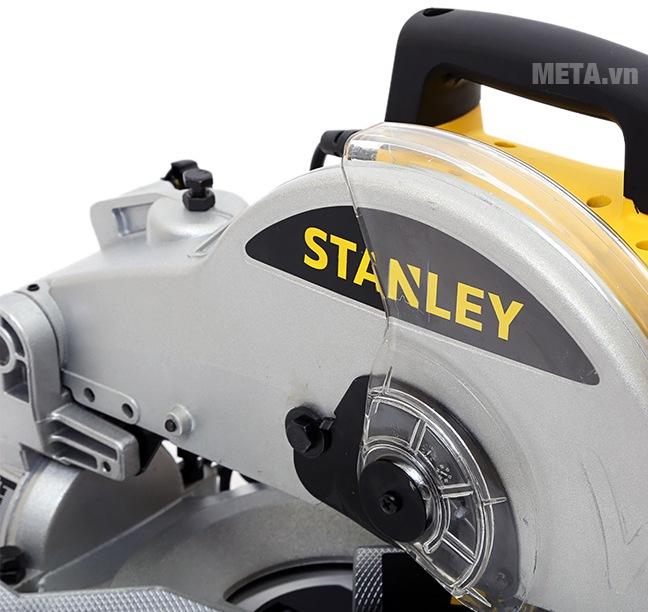 Máy cắt nhôm Stanley Stel 721 255mm - 1500W với vành máy chống bắn an toàn.