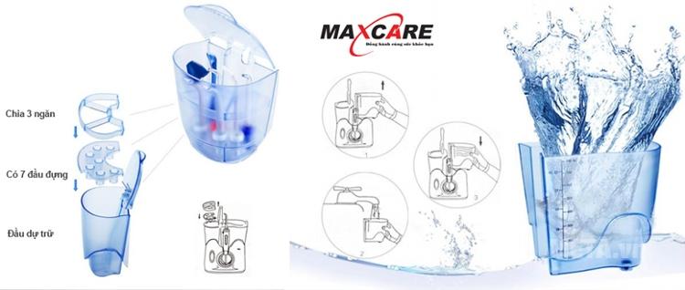 Cấu tạo của máy tăm nước sóng siêu âm Maxcare.