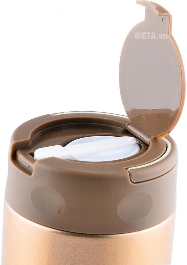 Bình đựng thức ăn giữ nhiệt Elmich inox 304 EL0631 500ml với thiết kế nắp đựng.