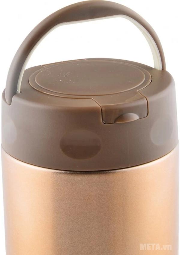 Bình đựng thức ăn giữ nhiệt Elmich inox 304 EL0631 500ml có quai xách tiện dụng.
