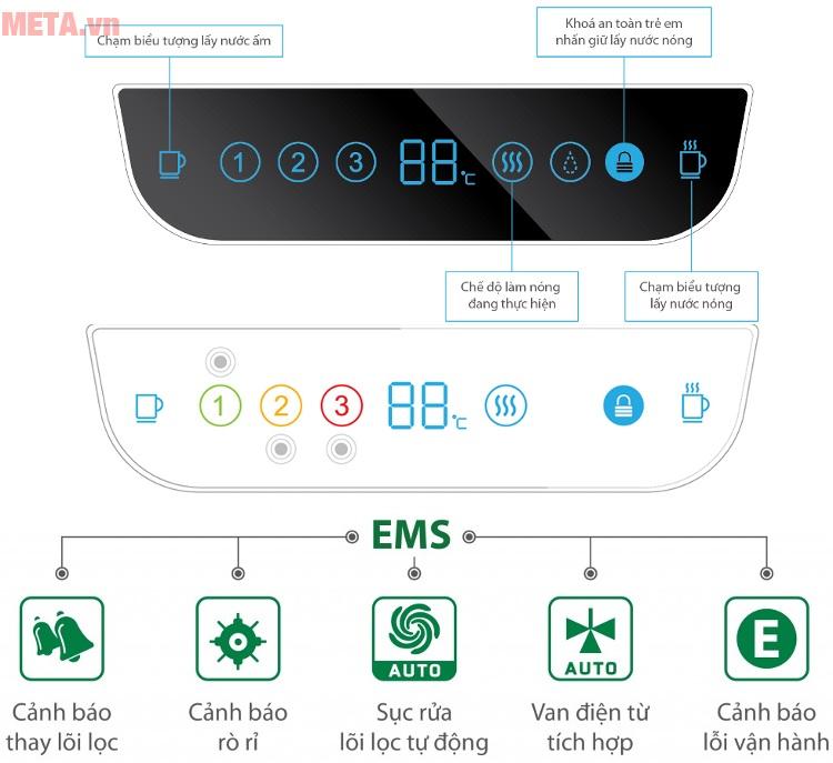 Máy lọc nước RO để bàn A.O.Smith AR75-A-S-H1 với hệ thống giám sát điện tử (EMS).