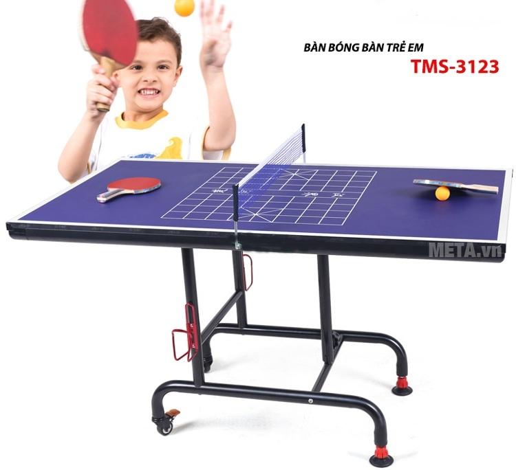 Bàn bóng bàn trẻ em TMS 3123 thích hợp dành cho trẻ em mới tập chơi.