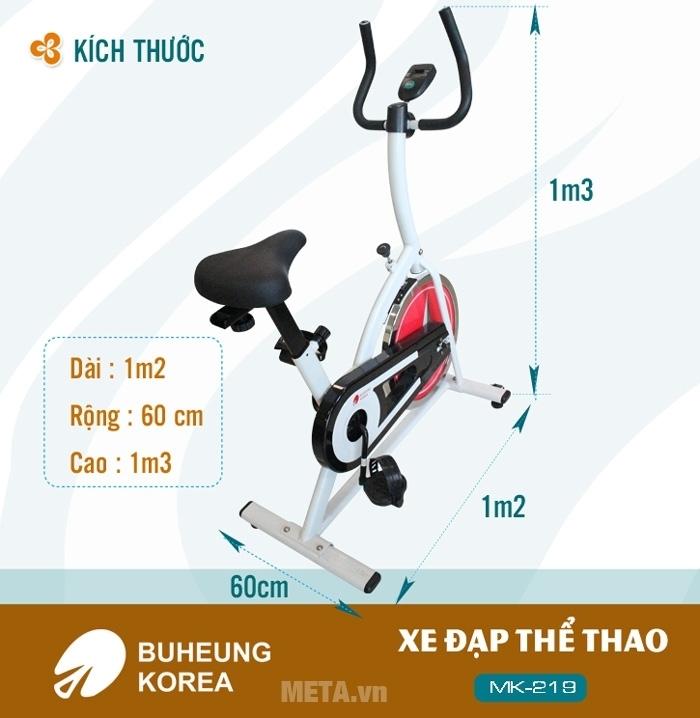Kích thước của xe đạp thể thao Buheung Korea MK-219