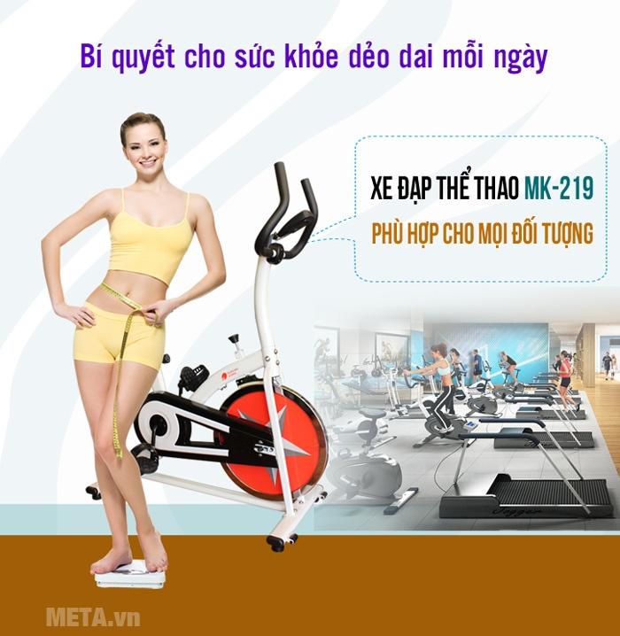 Xe đạp thể thao Buheung Korea MK-219 lý tưởng tập đạp xe tại nhà.