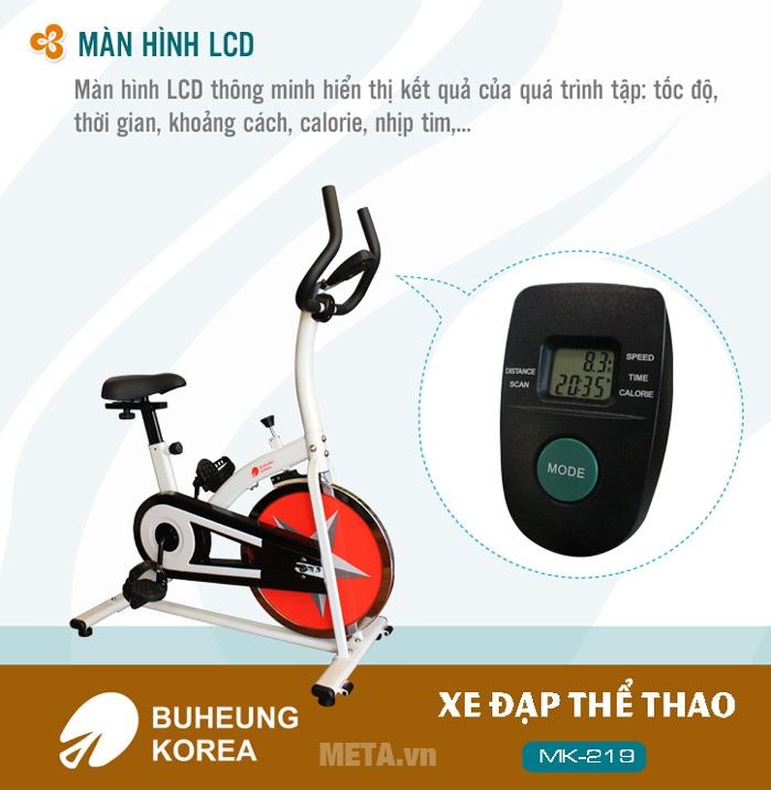 Xe đạp thể thao Buheung Korea MK-219 với màn hình LCD rõ nét.