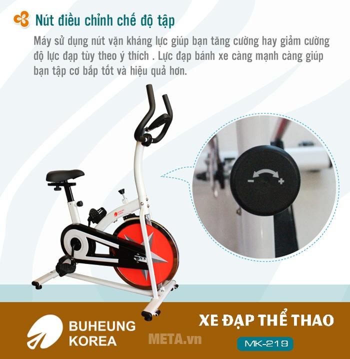 Xe đạp thể thao Buheung Korea MK-219 dễ dàng điều chỉnh nút kháng lực.