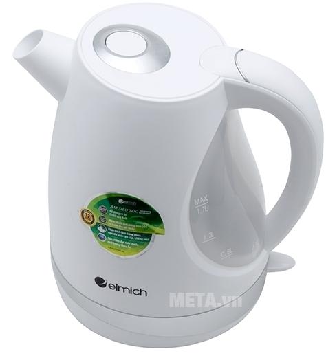 Ấm đun nước siêu tốc Elmich 1,7 lít KEE-0698 thiết kế vạch chia mực nước trên thân ấm.