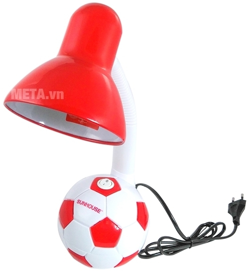 Đèn bàn Sunhouse SH-SL-01RW với thiết kế quả bóng ngộ nghĩnh.