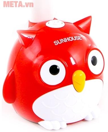 Đèn bàn Sunhouse SH-SL-02R với thiết kế đế đèn là chú cú mèo.