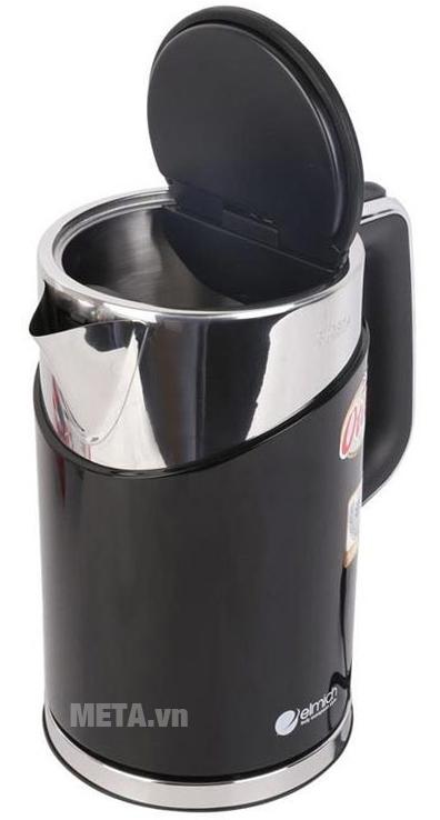 Ấm đun nước siêu tốc Elmich 1,7 lít KEE-0216 có màu đen sang trọng và sạch sẽ.