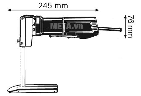 Máy cắt xốp mút Bosch GSG 300 có kích thước nhỏ gọn