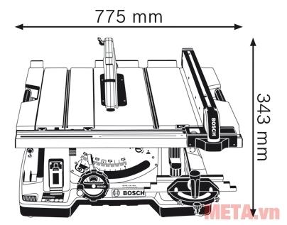 Kích thước của máy cưa bàn Bosch GTS 10 XC