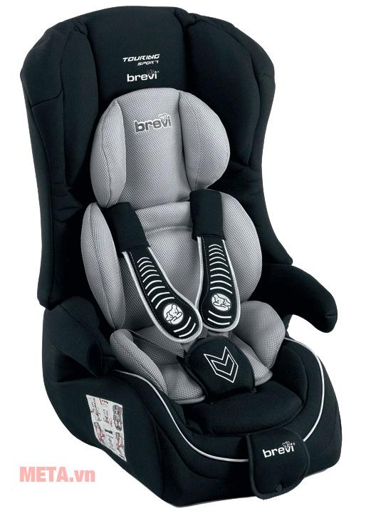 Ghế ngồi ô tô cho bé Brevi Touring Sport BRE510-258 màu đen