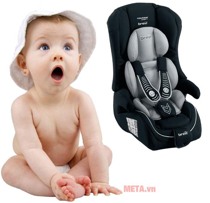 Ghế ngồi ô tô cho bé Brevi Touring Sport BRE510-258 cho bé những chuyến đi thật an toàn.
