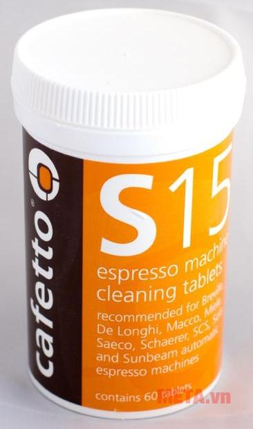 Hóa chất vệ sinh Cafetto S15 dạng hộp.