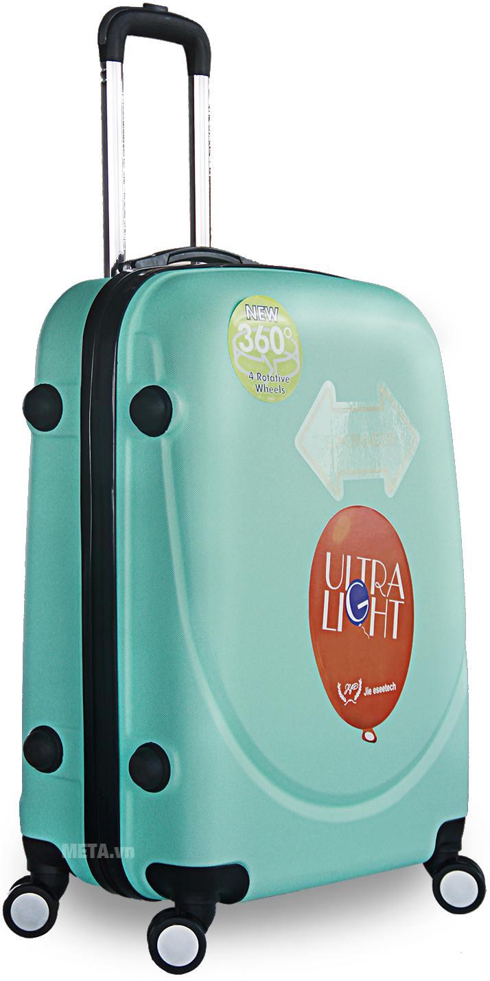 Vali nhựa ABS 360 20 inch màu xanh ngọc.