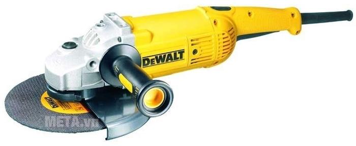 Máy mài góc 230mm 2.200W DeWalt D28414 có mô tơ máy siêu khỏe.