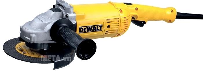 Máy mài góc 180mm 2.000W DeWalt D28491 có báng cầm phụ có độ ma sát cao.