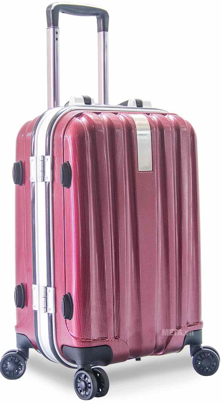 Vali nhựa khung nhôm VLN KN8032 20inch với màu đỏ.