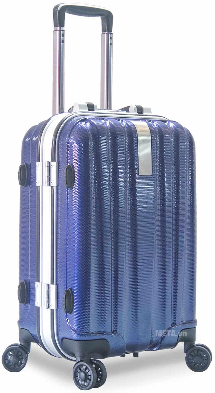 Vali nhựa khung nhôm VLN KN8032 20inch với màu xanh.