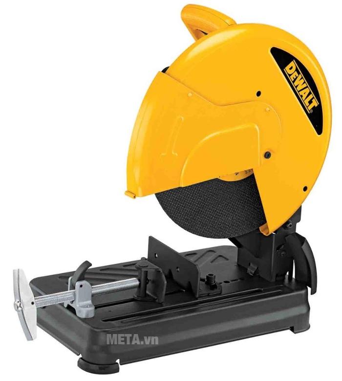 Máy cắt sắt DeWalt D28720 có tay cầm an toàn với nút bấm tiện lợi.