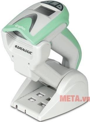 Máy quét mã vạch Datalogic Gryphon I GM4130 với thiết kế màu trắng.