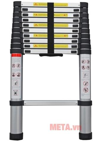 Thang nhôm rút gọn Ninda ND-32 thiết kế thông minh, dễ sử dụng và bảo quản.