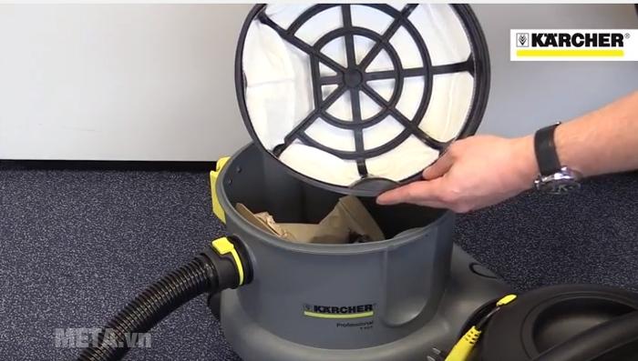 Máy hút bụi khô Karcher T10/1 Adv dễ tháo rời vệ sinh.
