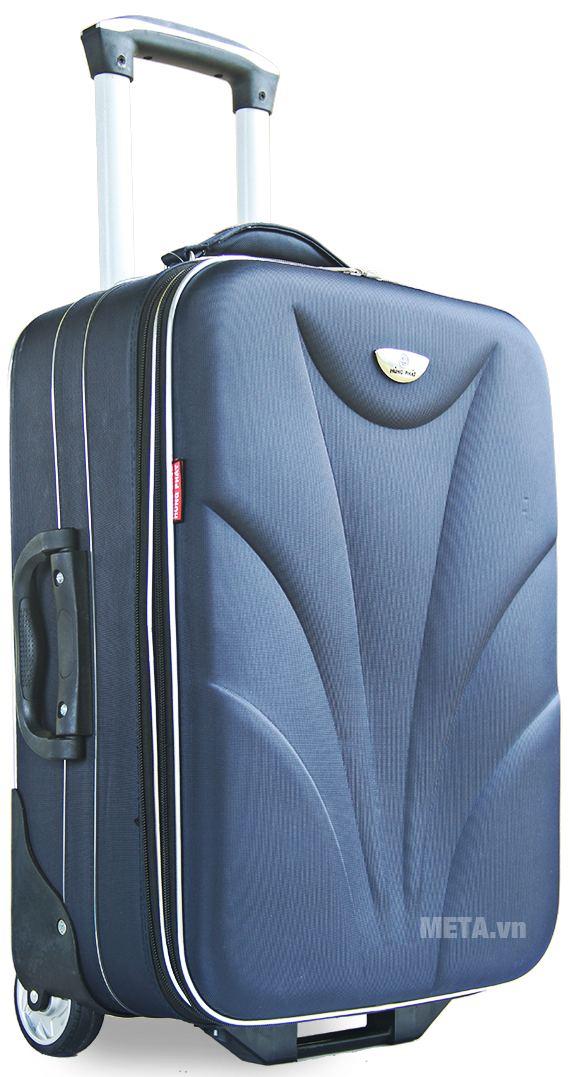 Vali thường 2 bánh VLT003G 24 inch với thiết kế màu xanh.