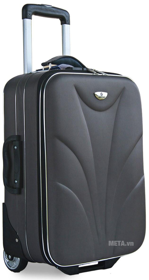 Vali thường 2 bánh VLT003G 24 inch với thiết kế màu đen.