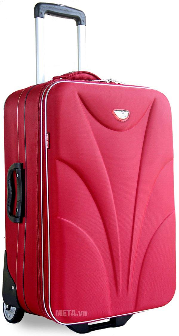Vali thường 2 bánh VLT003G 24 inch với thiết kế màu đỏ.