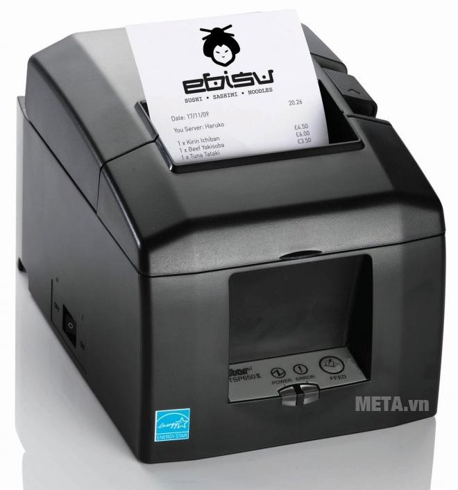 Máy in hóa đơn Star TSP654II tự động cắt giấy.