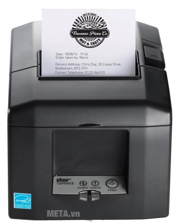 Máy in hóa đơn Star TSP654II cho bản in sắc nét.