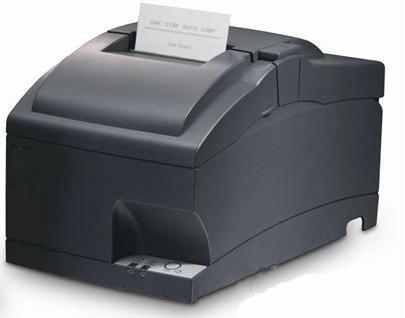 Máy in hóa đơn siêu thị Star SP712 có màu đen sang trọng.