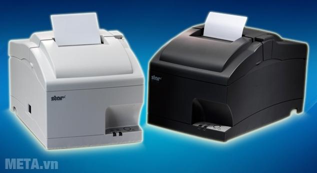 Máy in hóa đơn siêu thị Star SP747 có hai màu: trắng, đen.