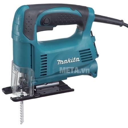 Máy cưa lọng Makita 4326 thiết kế tay cầm có độ nhám cao.