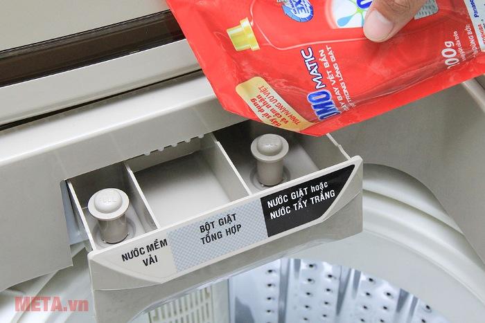 Ngăn đựng bột giặt của máy giặt cửa trên 7kg Aqua AQW-U700Z1T