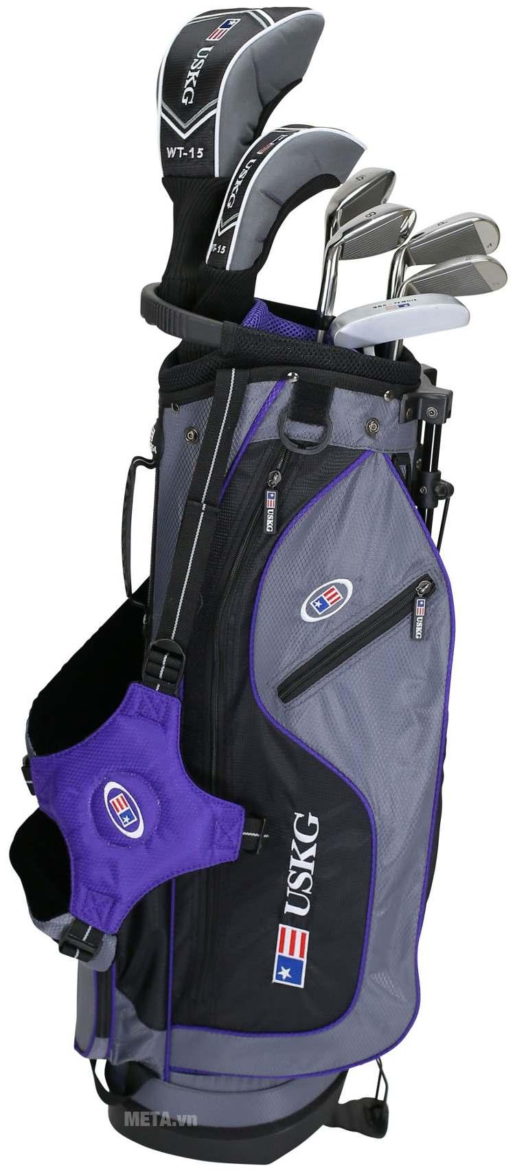 Bộ gậy golf trẻ em US Kids Golf UL54 7 Club với túi gậy.