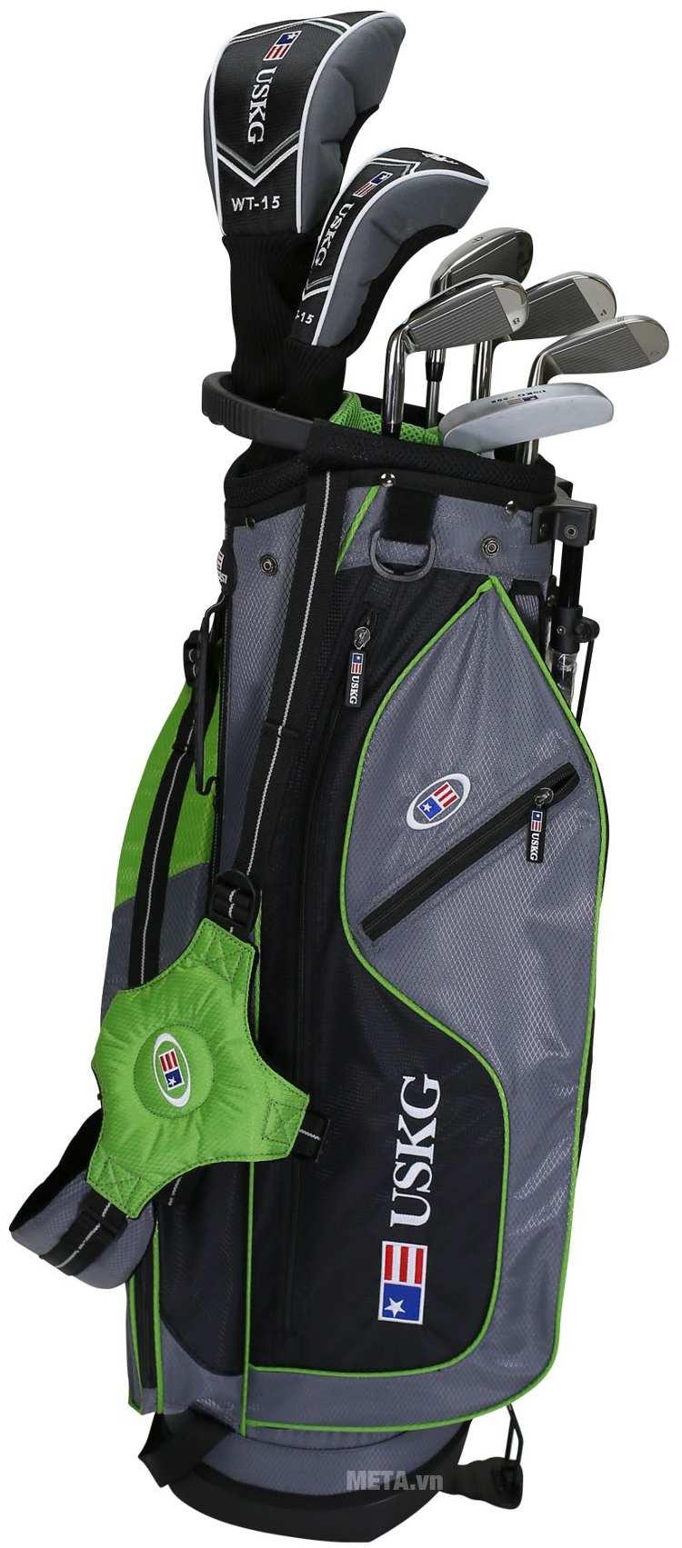 Bộ gậy golf trẻ em US Kids Golf UL57 7 Club với túi gậy hiện đại.