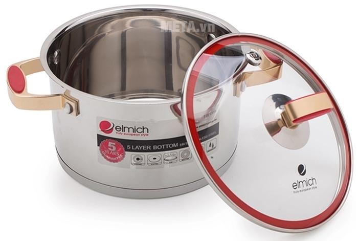 Xoong inox 304 Red Velvet 18cm 2355267 đun nấu cực nhanh.