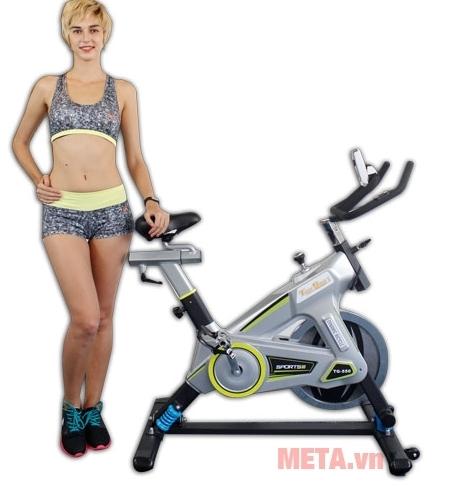 Xe đạp tập thể thao Tiger Sport Premium TGP-550 đáp ứng được nhu cầu tập luyện với cường độ cao tại phòng Gym.