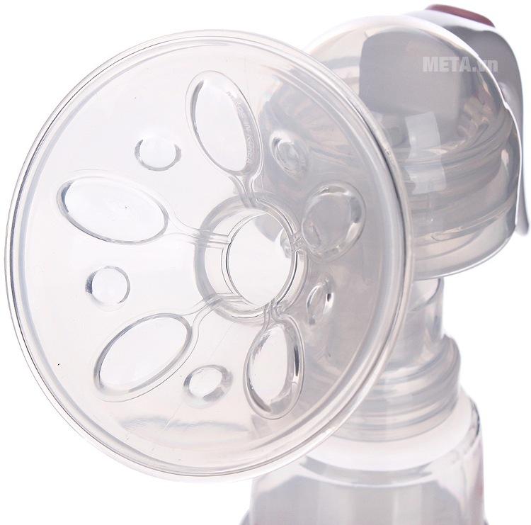 Máy hút sữa bằng tay không có BPA Unimom Mezzo với thiết kế miệng vòi lớn.