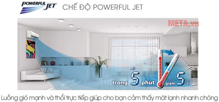 Điều hòa Sharp AH-X9STW 1HP tích hợp chế độ Power Jet.