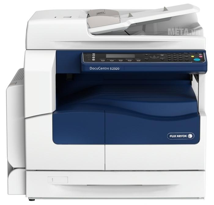 Máy photocopy Fuji Xerox DocuCentre S2320 có tốc độ copy / in là 25 trang/phút.