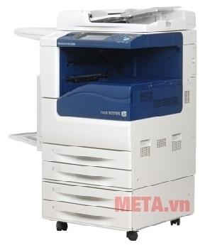 Máy photocopy Fuji Xerox DocuCentre V3065 có bánh xe giúp di chuyển dễ dàng.