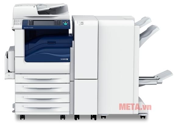 Máy photocopy Fuji Xerox DocuCentre V4070 di chuyển rất nhẹ nhàng nhờ bánh xe.