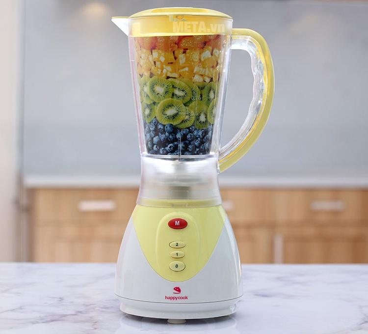 Máy xay sinh tố Happy Cook HC-200BL với thiết kế nhỏ gọn.
