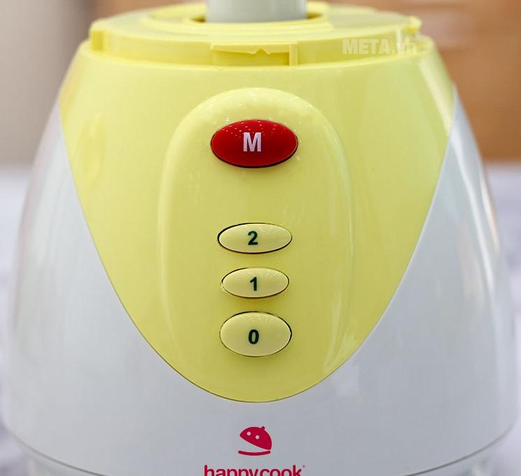 Máy xay sinh tố Happy Cook HC-200BL với thiết kế nút nhấn dễ sử dụng.