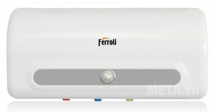 Bình nóng lạnh gián tiếp Ferroli QQ M 50 lít có thanh nhiệt to giúp đun nước sôi nhanh.